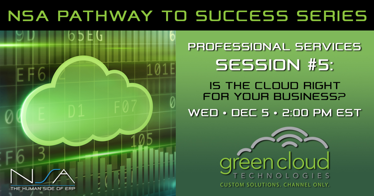 Pathway to Success Professional Services Series #5 with Green Cloud