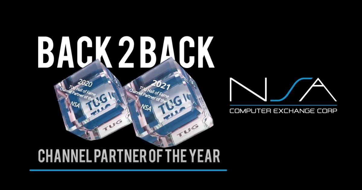 NSA Recognized as TUG Channel Partner of the Year 2021