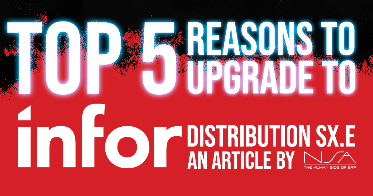 Infor Reasons to Upgrade